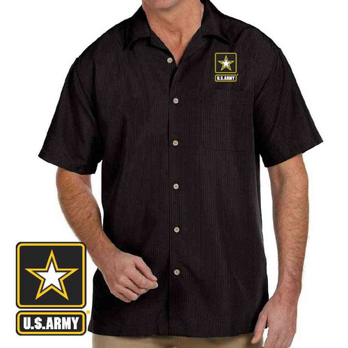 officially licensed u s army embroidered camp shirt