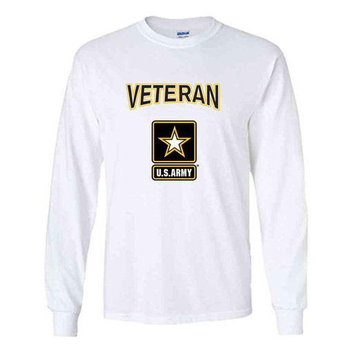 the officially licensed u s army veteran star logo performance long sleeve shirt