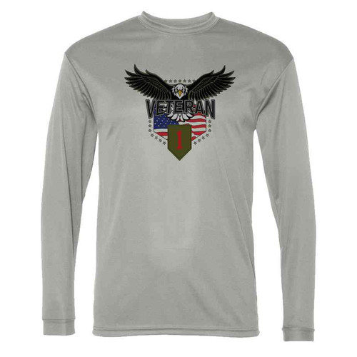 1st infantry division w eagle gray long sleeve shirt