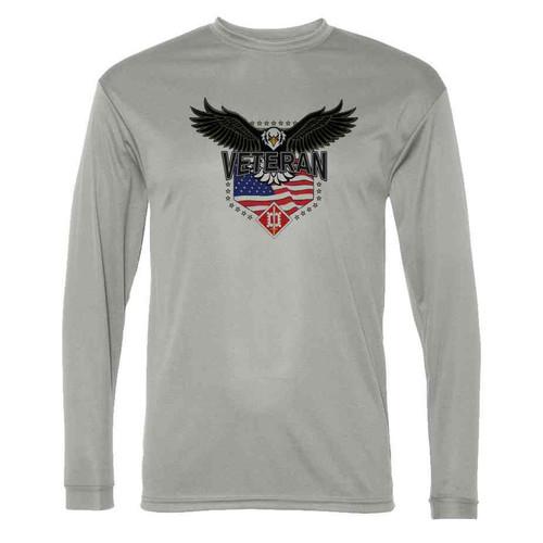 18th engineer brigade w eagle gray long sleeve shirt