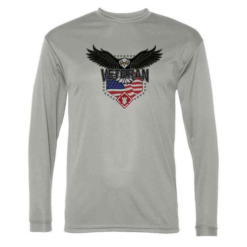 20th engineer brigade w eagle gray long sleeve shirt