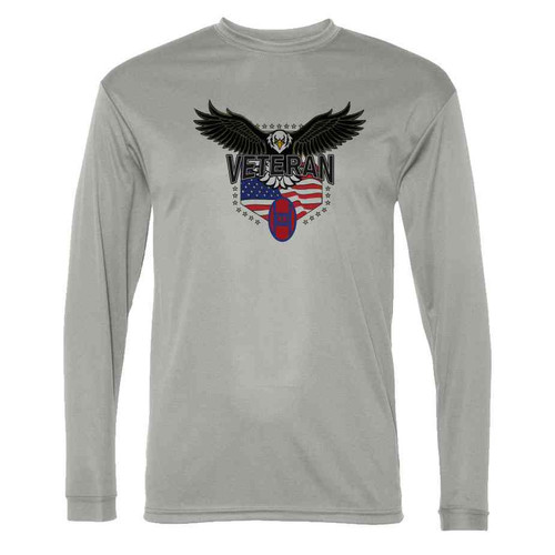 30th infantry division w eagle gray long sleeve shirt