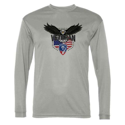 187th infantry w eagle gray long sleeve shirt