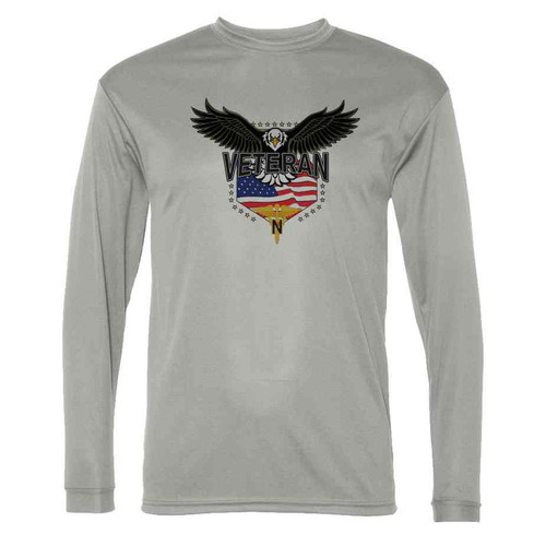 army nurses corps w eagle gray long sleeve shirt