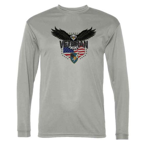 army security agency w eagle gray long sleeve shirt