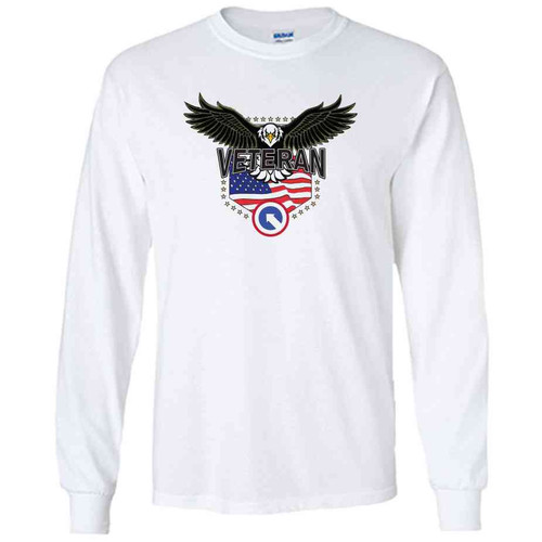 1st logistical command w eagle white long sleeve shirt