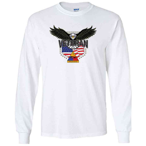 3rd armored division w eagle white long sleeve shirt