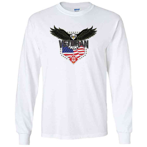 18th engineer brigade w eagle white long sleeve shirt