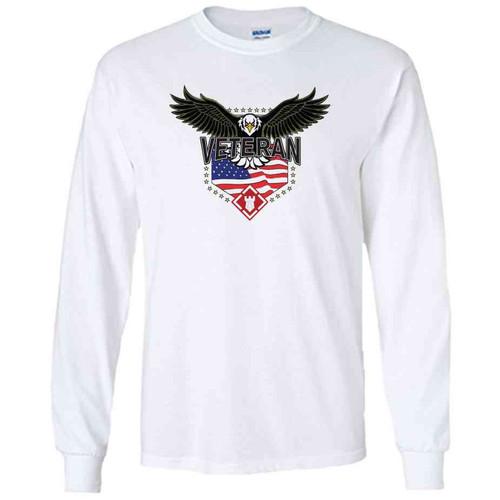 20th engineer brigade w eagle white long sleeve shirt