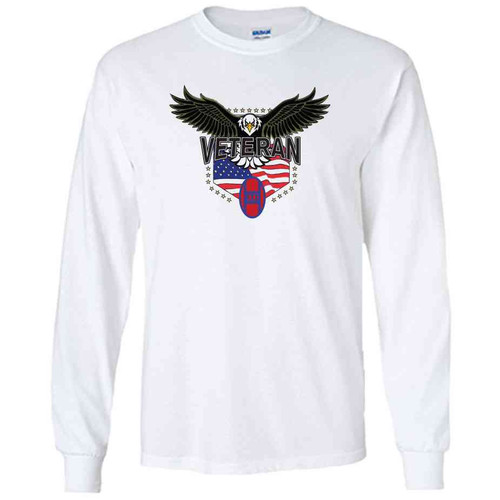 30th infantry division w eagle white long sleeve shirt
