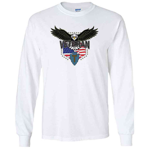 36th infantry division w eagle white long sleeve shirt