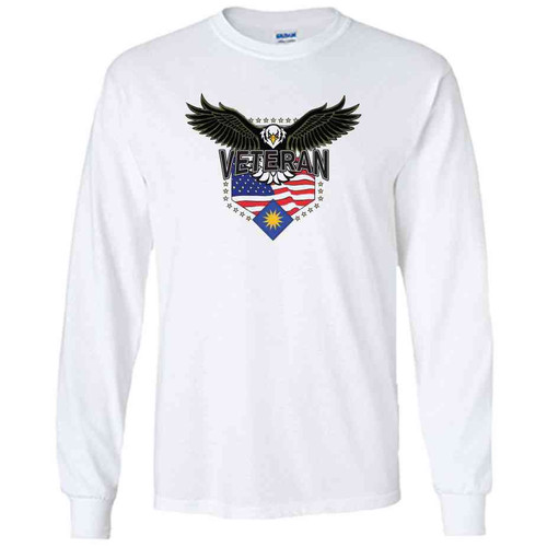 40th infantry division w eagle white long sleeve shirt