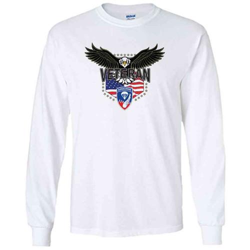187th infantry w eagle white long sleeve shirt