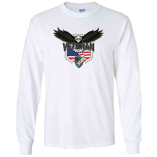 army security agency w eagle white long sleeve shirt