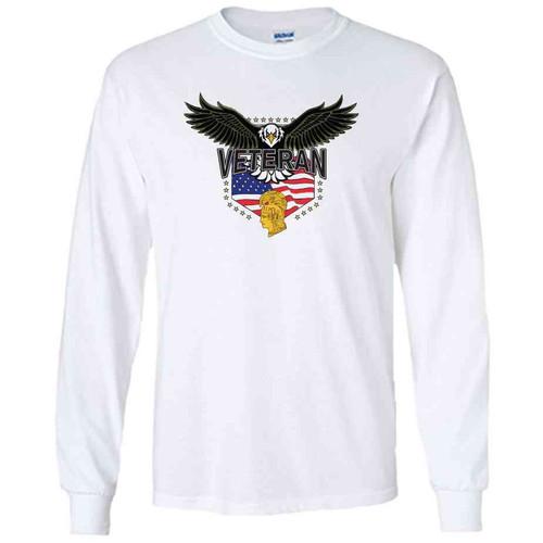 womens army corps eagle white long sleeve shirt