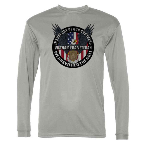 vietnam era veteran in support our brothers grey ss long sleeve shirt