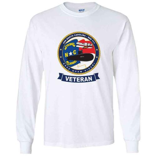 uss north carolina veteran white long sleeve shirt