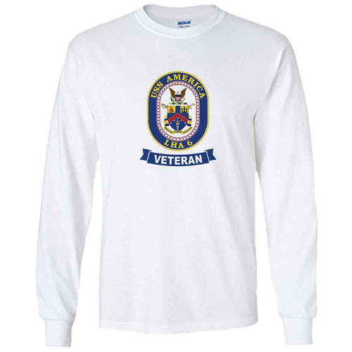 uss america veteran white long sleeve shirt