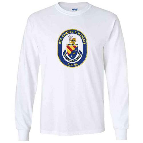 uss samuel b roberts white long sleeve shirt