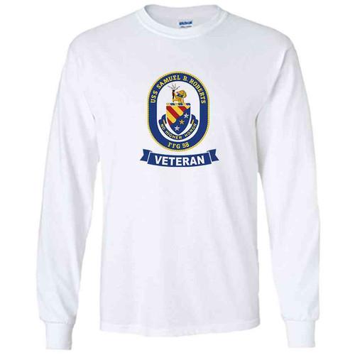 uss samuel b roberts veteran white long sleeve shirt