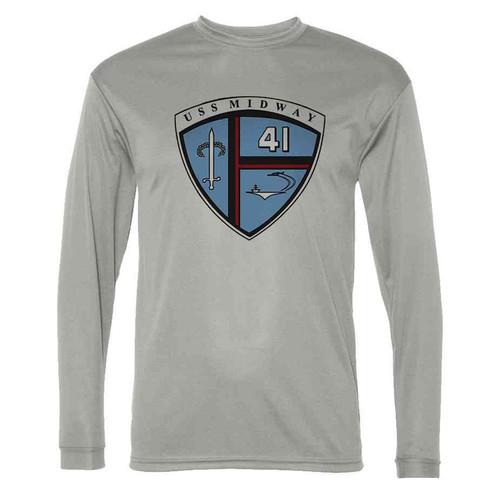 uss midway grey long sleeve shirt