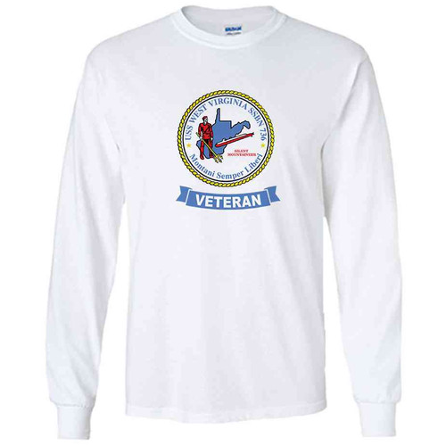 uss west virginia veteran white long sleeve shirt
