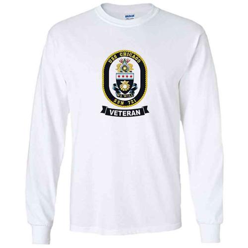 uss chicago veteran white long sleeve shirt