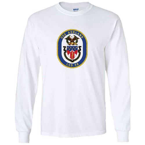 uss ashland white long sleeve shirt