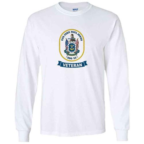 uss john paul jones veteran white long sleeve shirt