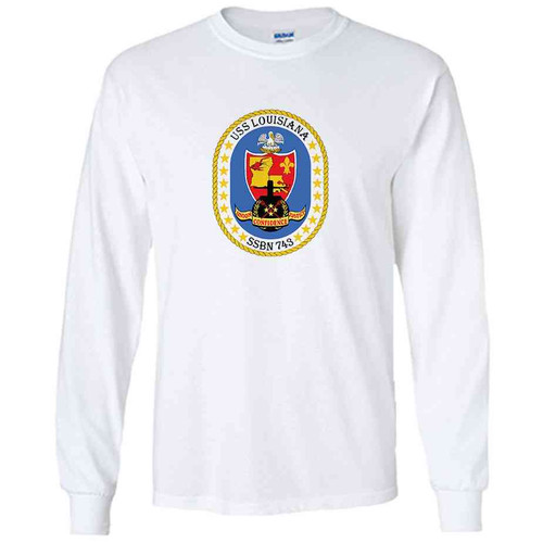 uss louisiana white long sleeve shirt