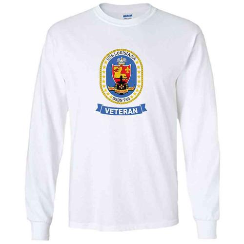 uss louisiana veteran white long sleeve shirt