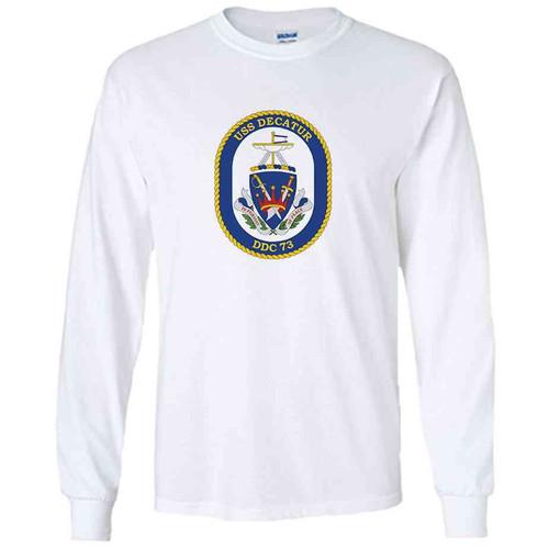 uss decatur white long sleeve shirt