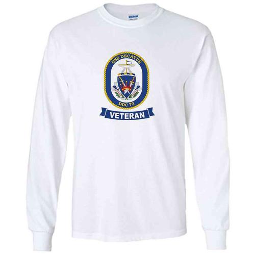 uss decatur veteran white long sleeve shirt