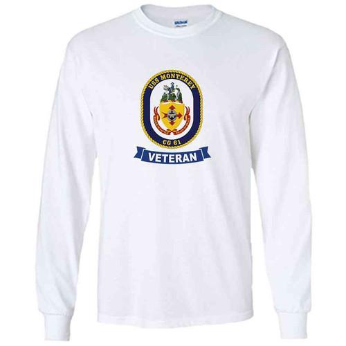 uss monterey veteran white long sleeve shirt