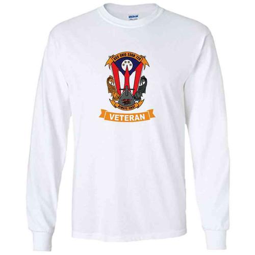 uss ohio veteran white long sleeve shirt
