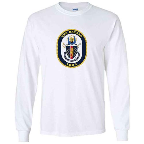 uss bataan white long sleeve shirt