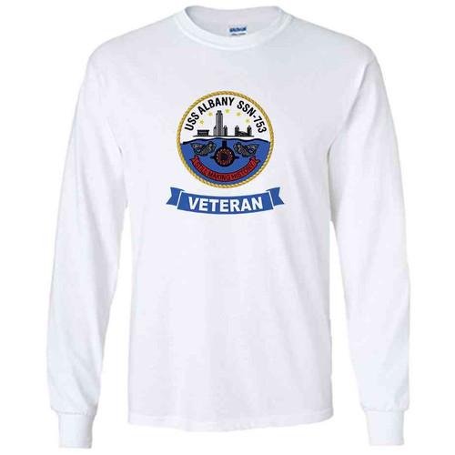 uss albany veteran white long sleeve shirt