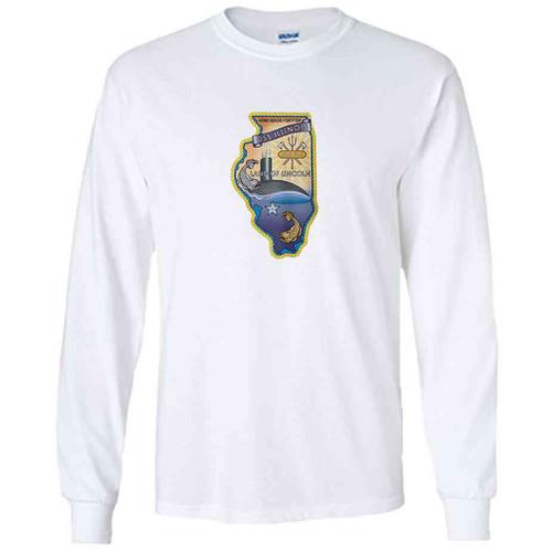 uss illinois white long sleeve shirt