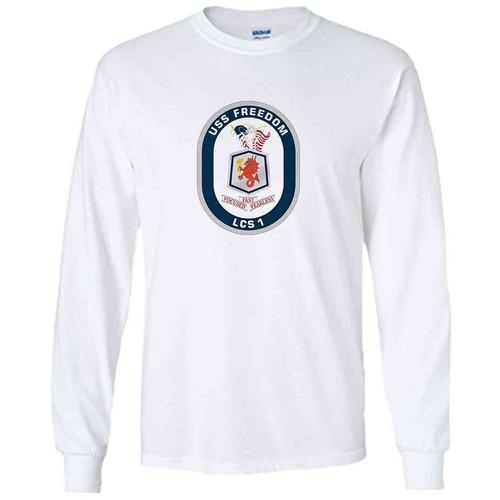 uss freedom white long sleeve shirt