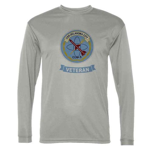 uss oklahoma city veteran grey long sleeve shirt