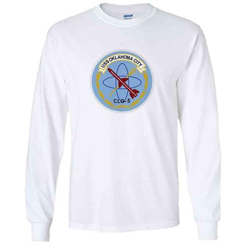 uss oklahoma city white long sleeve shirt