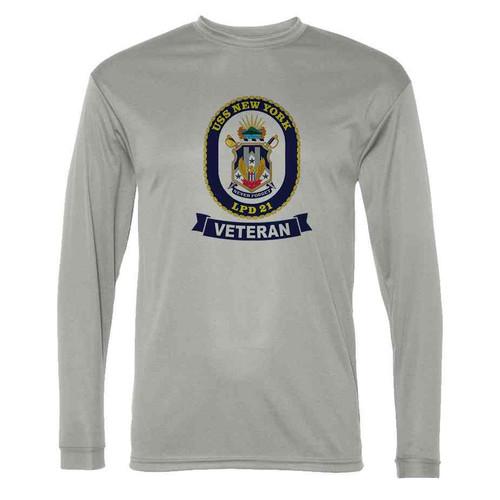 uss new york veteran grey long sleeve shirt