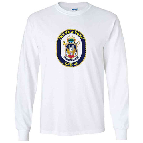 uss new york white long sleeve shirt