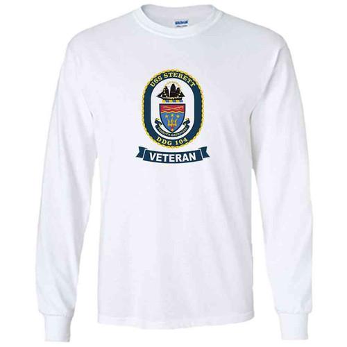 uss sterett veteran white long sleeve shirt