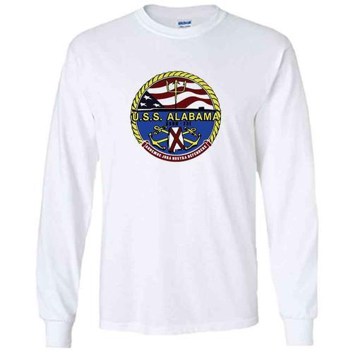 uss alabama white long sleeve shirt