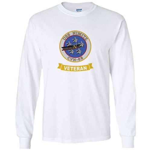 uss nimitz veteran white long sleeve shirt