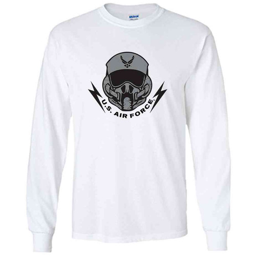 officially licensed u s air force pilot white long sleeve shirt