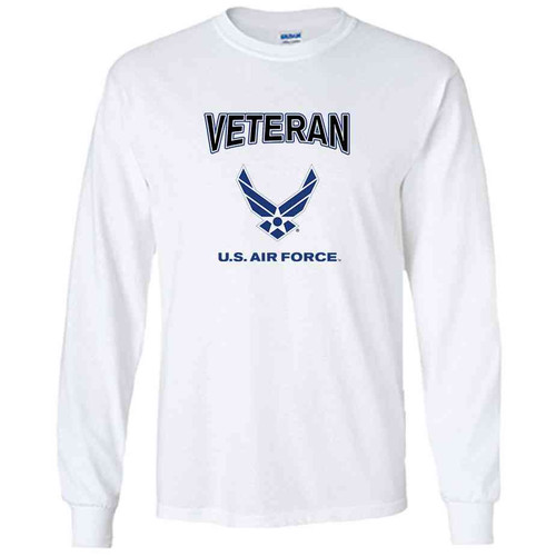 officially licensed u s air force veteran wings white long sleeve shirt