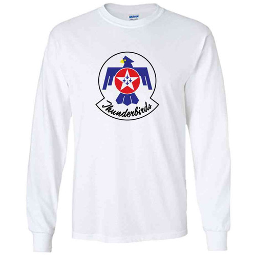officially licensed u s air force thunderbirds color logo white long sleeve shirt