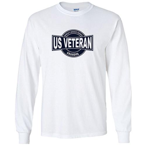 World's Biggest Badass US Veteran Grandpa Long Sleeve Shirt